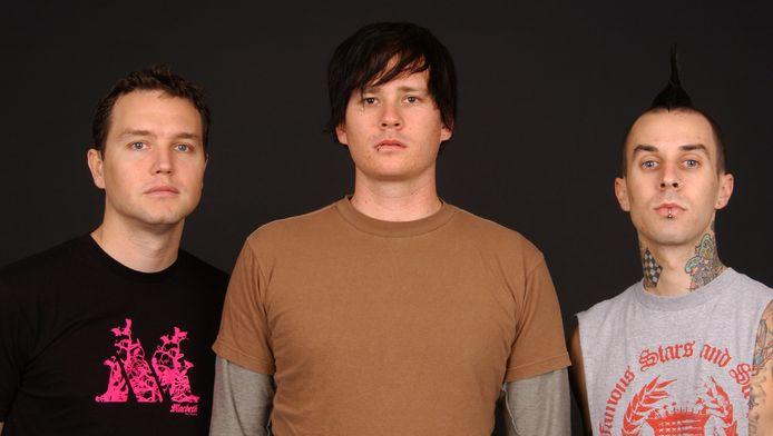 De gauche à droite: Mark Hoppus, Tom DeLonge et Travis Barker