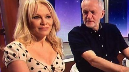 Ogen van Britse politicus dwalen af tijdens tv-show met Pamela Anderson