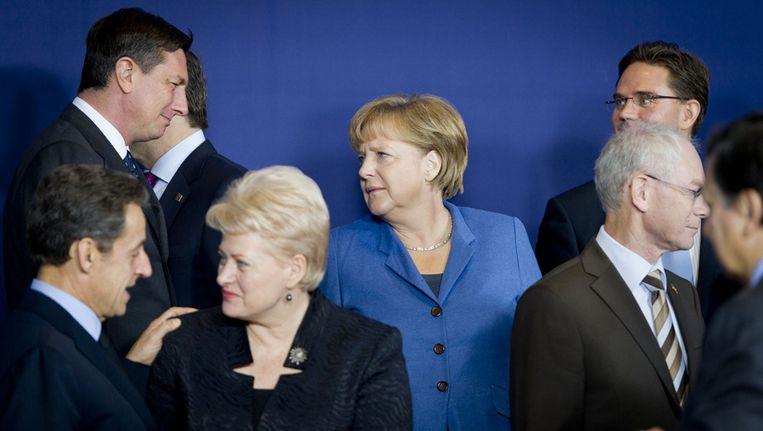 Europese regeringsleiders afgelopen weekeinde tijdens de eurotop. Beeld