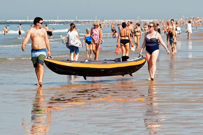 Op 15 september konden strandgangers in Oostende nog genieten van een heerlijk dagje.