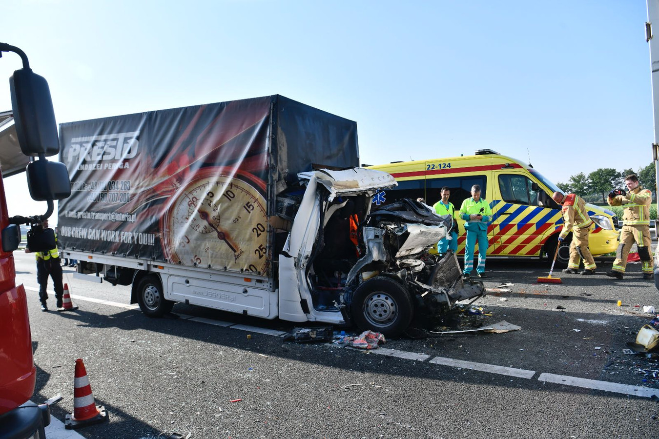 Chaos op de A67 nabij Someren.