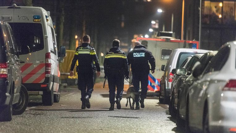 Politie doet onderzoek na de liquidatie van afgelopen vrijdag. Beeld anp