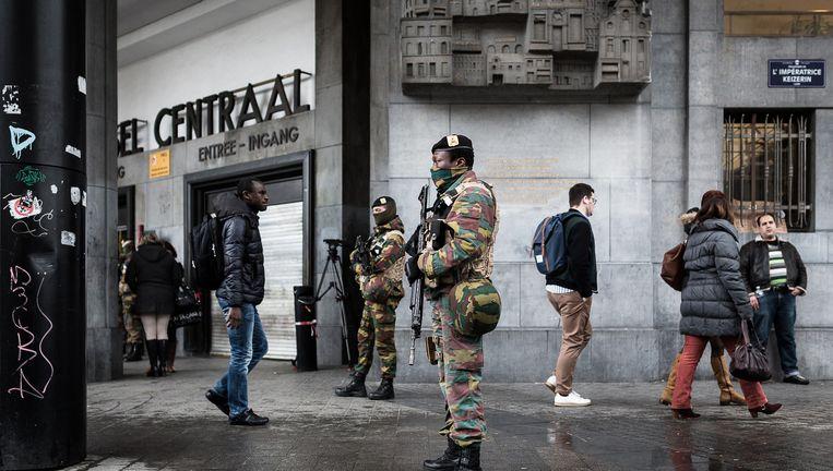 Centraal station, Brussel, woensdagmorgen Beeld AP