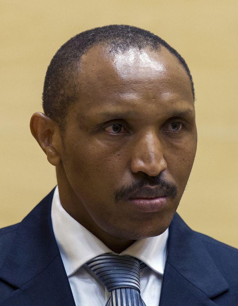 Bosco Ntaganda tijdens de eerste zitting van zijn zaak bij het Internationaal Strafhof in Den Haag, op 2 september 2015. Beeld AFP