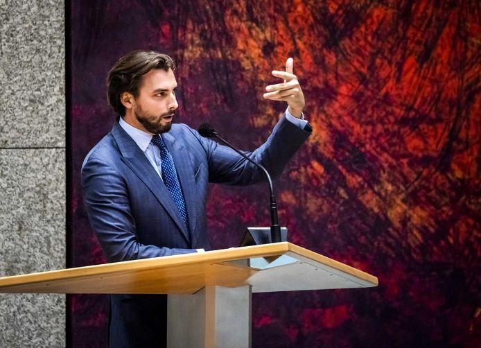 Thierry Baudet (Forum voor Democratie) tijdens de tweede dag van de Algemene Politieke Beschouwingen.