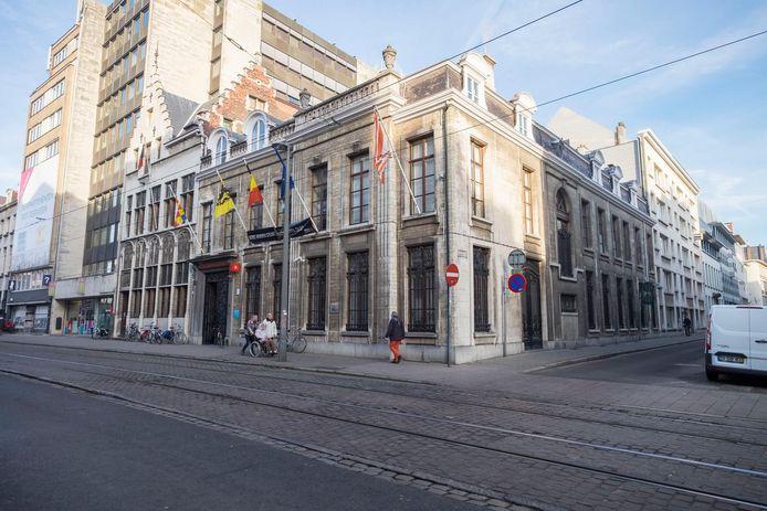 Het districtshuis in de Lange Gasthuisstraat