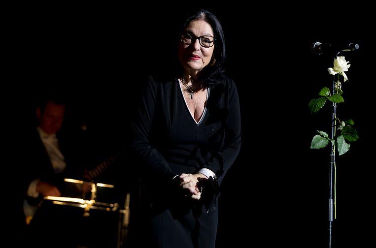 Nana Mouskouri trad in 2014 op in Vredenburg Leidsche Rijn. Beeld ANP Kippa