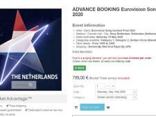 Kaartjes songfestival nu al aangeboden op internet, prijzen tot wel 799 euro per stuk