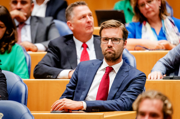 Sjoerd Sjoerdsma (D66) in de Tweede Kamer.