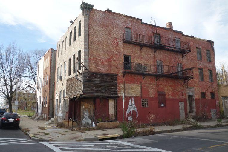 Veel panden in Baltimore zijn dichtgetimmerd. Beeld null