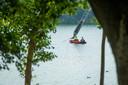 Het lichaam werd aangetroffen bij een mast van Waterskicentrum De Berendonck.