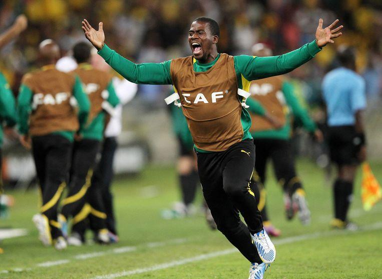 Senzo Meyiwa, de aanvoerder van het Zuid-Afrikaanse voetbalteam. Beeld getty