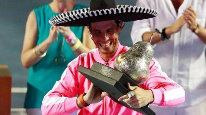 Rafael Nadal is voor de derde keer de beste in Acapulco
