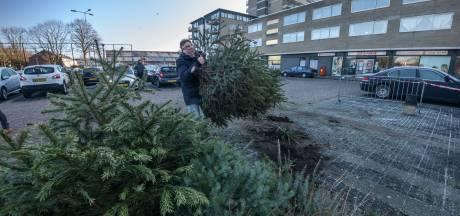 Nog gauw even een selfie maken terwijl je de kerstboom inlevert