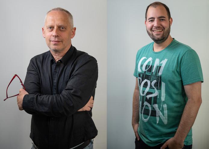 Het debat: Teun Staal (links) vs Wilco Louwes