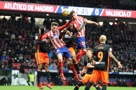 Atlético Madrid won vorig seizoen met 1-0 van Valencia door een goal van Ángel Correa.
