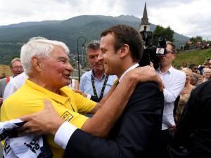 """Merckx, Hinault, Macron... les nombreux hommages à """"Poupou"""""""