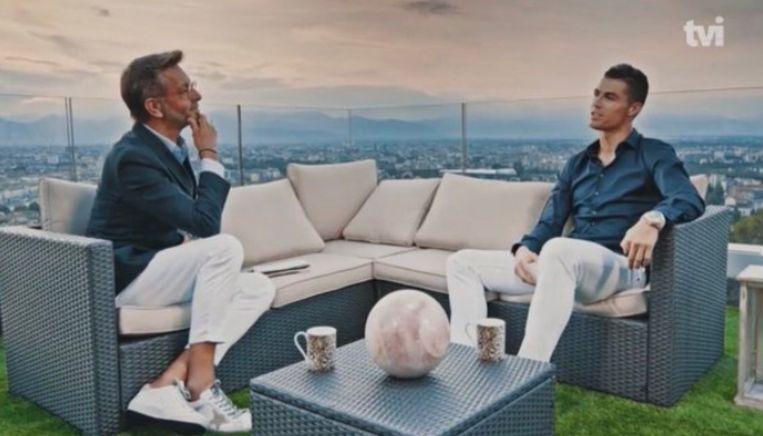 Ronaldo tijdens het interview.