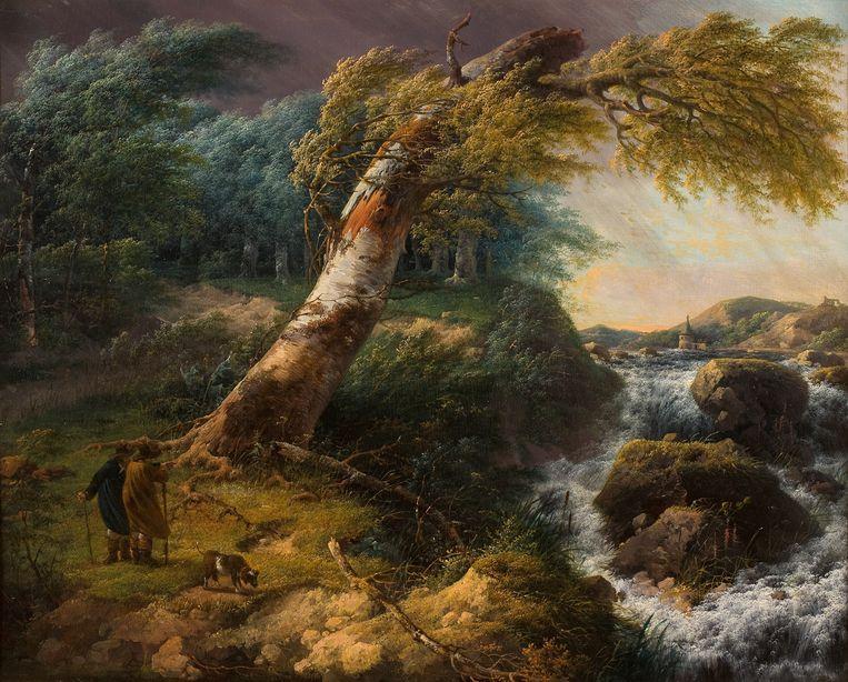 'Landschap in de storm', Gerard van Nijmegen, 1804. Collectie Rijksmuseum Twente, foto R. Klein Gotink.  Beeld x