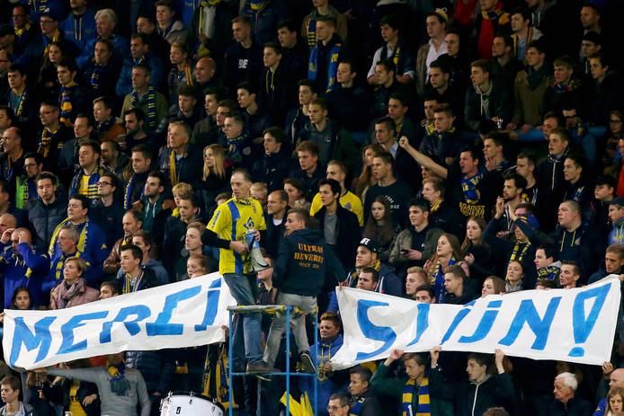 Twee dagen na het ontslag stonden de fans van Waasland-Beveren nog altijd vierkant achter 'hun'  Stijn Vreven.