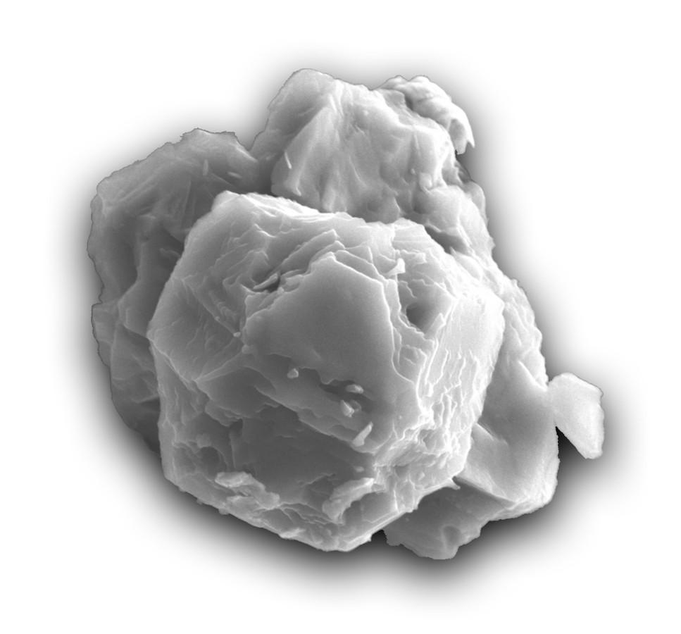 Microscopisch fragmentje van het gevonden stofje