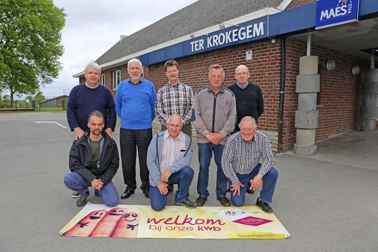 De bestuursleden van KWB Krokegem.