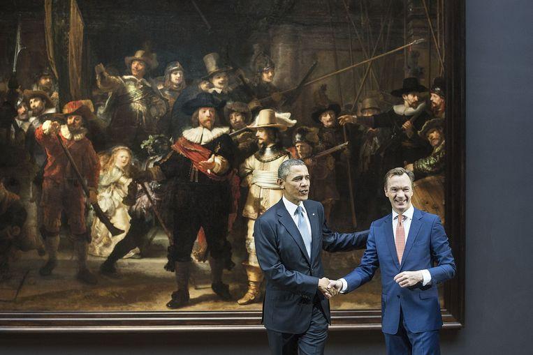President Obama en Wim Pijbes. Beeld ANP