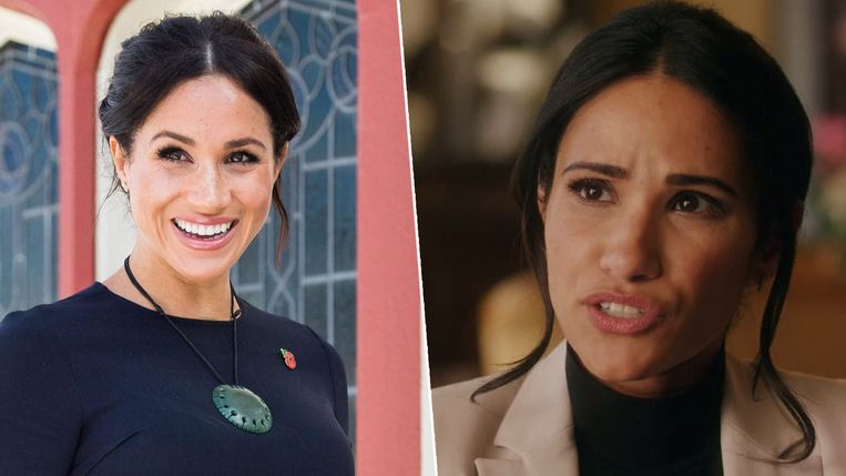 Meghan Markle (links) en Tiffany Marie Smith (rechts).