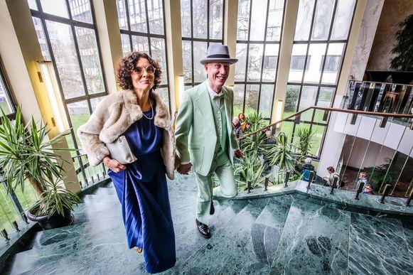 Herr Seele en Katia Belloy in het stadhuis.