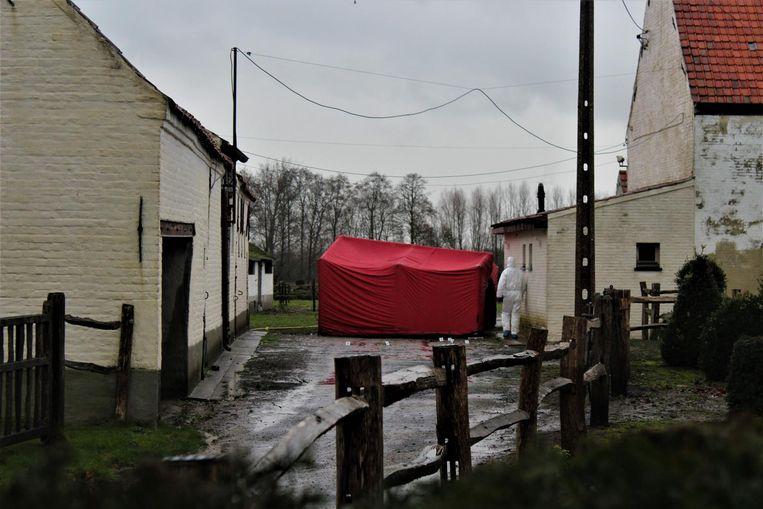 De man werd gevonden op de oprit van bomenkwekerij Goossens.