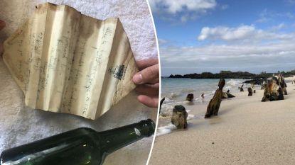 Student vindt fles met brief uit 1924. Boodschap blijkt van avonturier die wereld rondreisde en op zoek ging naar fabelachtige schat