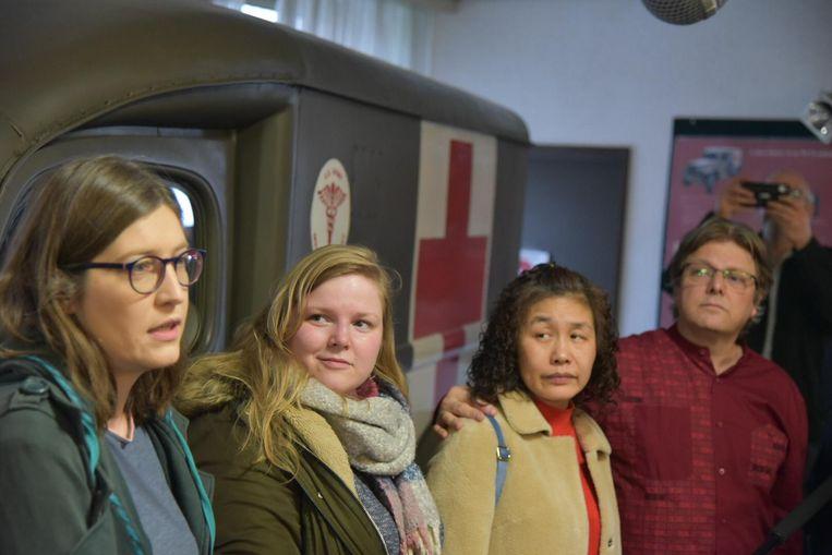 Leen, samen met Laura, Hua en Johan.