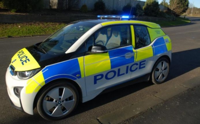 Onder meer de BMW i3 wordt in Groot-Brittannië ingezet als elektrische patrouillewagen.