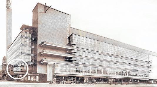 De oude Bijenkorf in Rotterdam