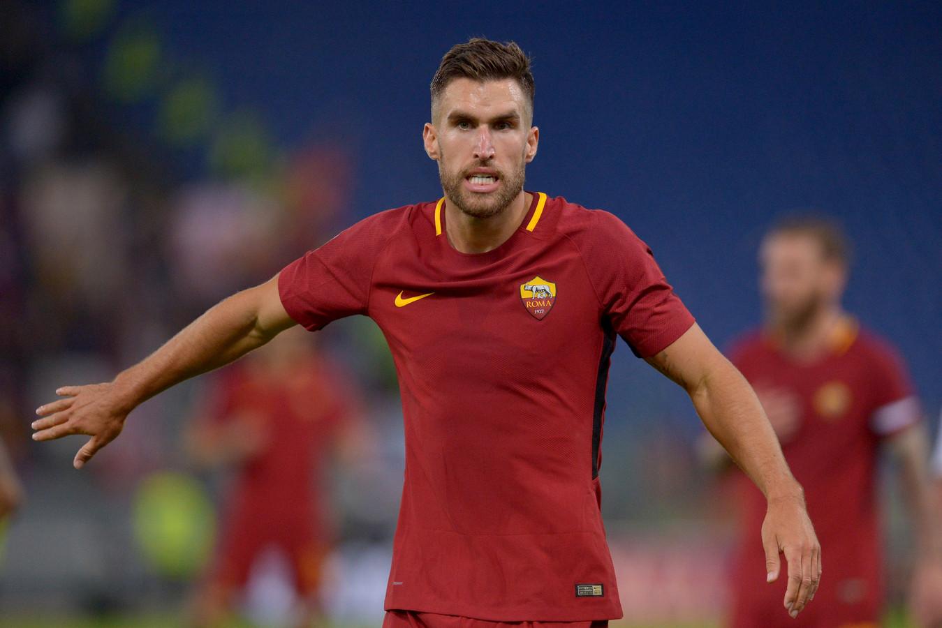 Kevin Strootman in het shirt van AS Roma.