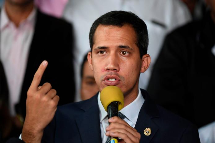De Venezolaanse oppositieleider Juan Guaidó.