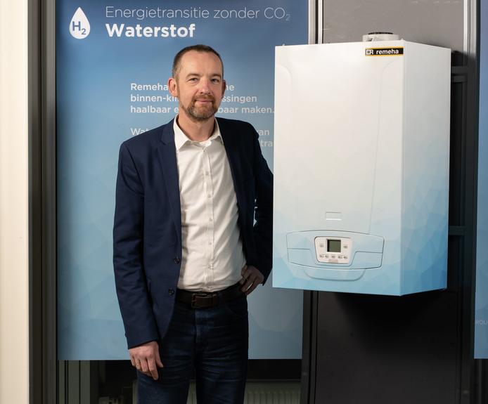 De Apeldoornse fabrikant van cv-ketels  Remeha heeft de eerste waterstof cv-ketel voor de Nederlandse markt ontworpen en pronkt daar deze week mee op de Bouwbeurs.