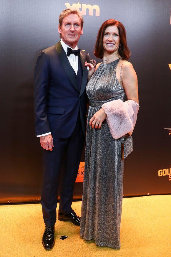 Francky Dury met zijn vrouw.