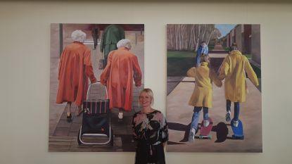 """Muriel Princen vereeuwigt Leuvense tweeling op canvas: """"Droom dat mijn kunstwerk in Tweebronnen mag hangen"""""""