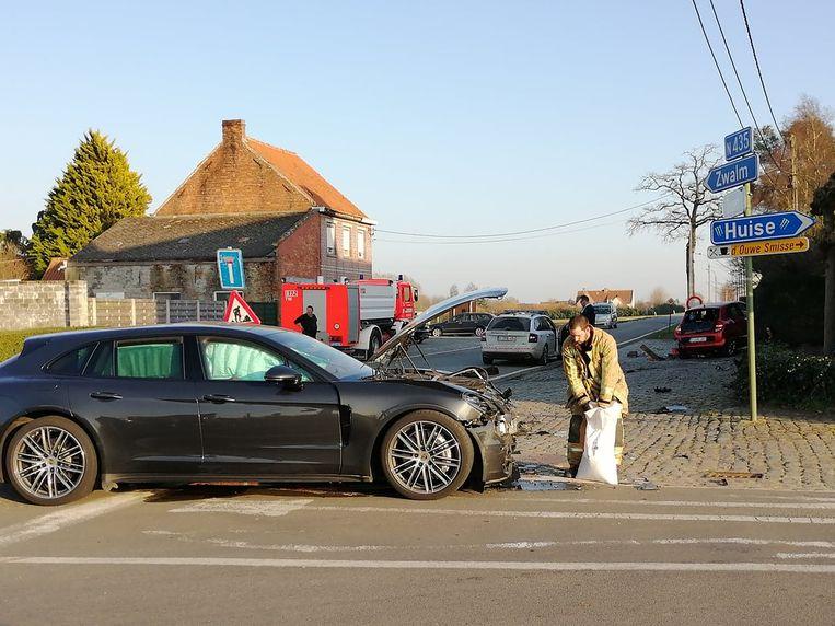 Het ongeval is gebeurd op de kruispunt met de Neerrechemstraat en Kloosterstraat
