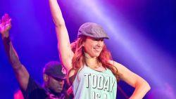 Natalia oefent dansskills voor optreden in Sportpaleis