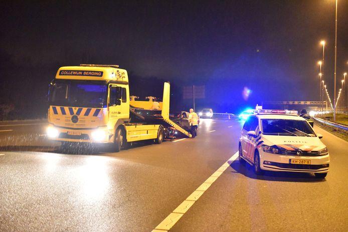 Ongeluk op de A2 bij Maarssen