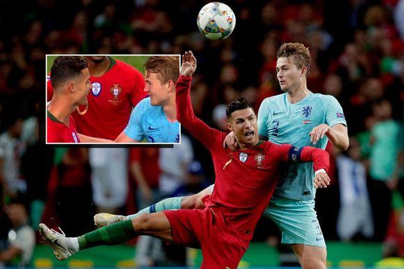 Ronaldo en De Ligt vochten gisteravond enkele verbeten duels uit.