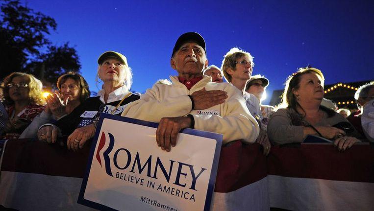 Aanhangers van Mitt Romney in Florida. Beeld afp
