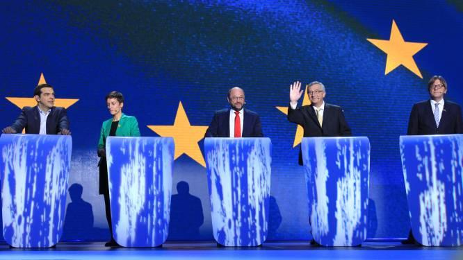 Vijf kandidaat-Commissievoorzitters houden vinnig slotdebat