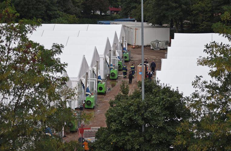 Een tentenkamp in het Duitse Köln. Beeld anp