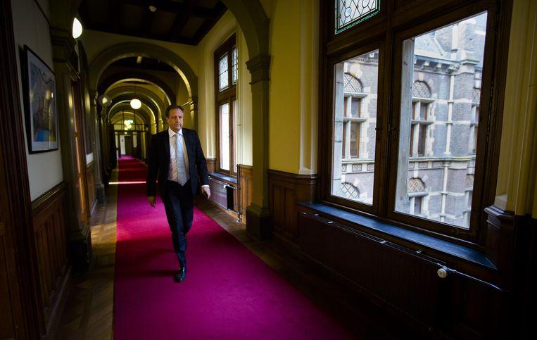 Alexander Pechtold (D66) in de Tweede Kamer. Beeld anp