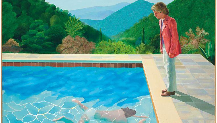 Portrait of an Artist (Pool with Two Figures), 1972, David Hockney. Beeld ap