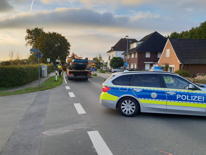 De politie ter plaatse bij het ongeval.