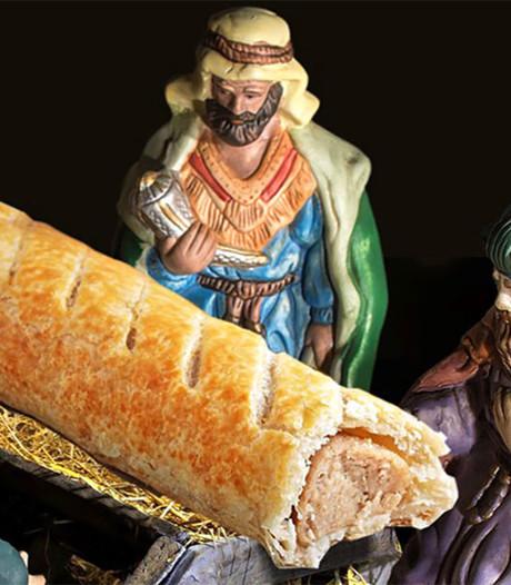 Brits bedrijf onder vuur na vervangen Jezus in kribbe door worstenbroodje